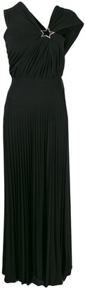 Elisabetta Franchi pleated maxi dress