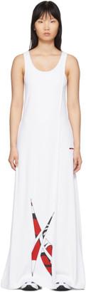 Pyer Moss Reebok By Reebok by White Collection 3 Logo Long Dress