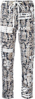 Kenzo printed drawstring trousers - women - Polyester/Triacetate/Viscose - 34