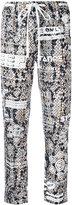 Kenzo printed drawstring trousers - women - Polyester/Triacetate/Viscose - 34