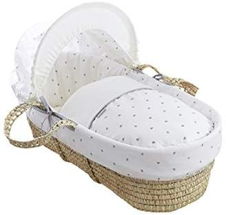 Clair De Lune Palm Moses Basket (Lullaby Hearts)