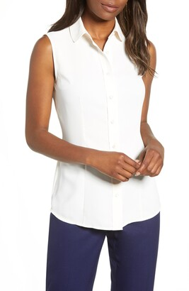 Anne Klein Peter Pan Collar Blouse