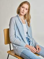 White + Warren Cashmere Double Hem Cardigan
