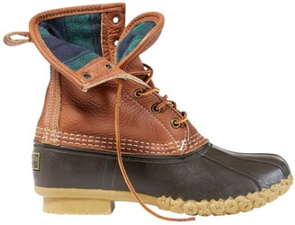 """L.L. Bean Women's 8"""" Bean Boots, Tumbled-Leather Chamois-Lined"""