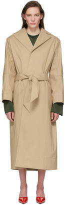 Kwaidan Editions Beige Structural Belted Trench Coat