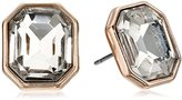 """Kenneth Cole New York Rose Blossom"""" Faceted Glass Crystal Stone Stud Earrings"""