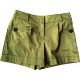 Burberry Green Cotton Shorts