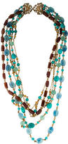 Stephen Dweck Turquoise, Quartz & Topaz Bead Multistrand Necklace