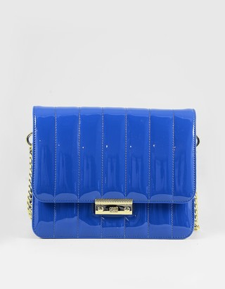 Class Roberto Cavalli Bright Blue Patent Eco-Leather Shoulder Bag