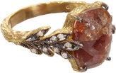Cathy Waterman Rustic Diamond Leafside Ring
