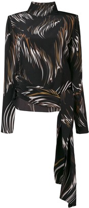 Givenchy Abstract Print Blouse