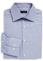 Ike Behar Regular-Fit Dobby Striped Cotton Dress Shirt