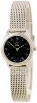 Calvin Klein K3M53151 Women's Minimal Black Dial Stainless Steel Mesh Bracelet Watch