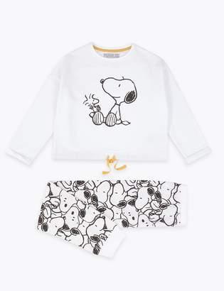 Marks and Spencer Snoopy Print Pyjama Set (5-16 Years)