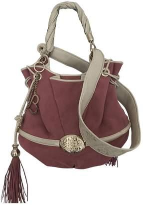 Lancel Brigitte Bardot Pink Suede Handbags