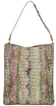 Brahmin Large Amelia Melbourne Embossed Leather Bucket Bag