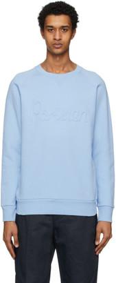 MAISON KITSUNÉ Blue Flocked Parisien Sweatshirt