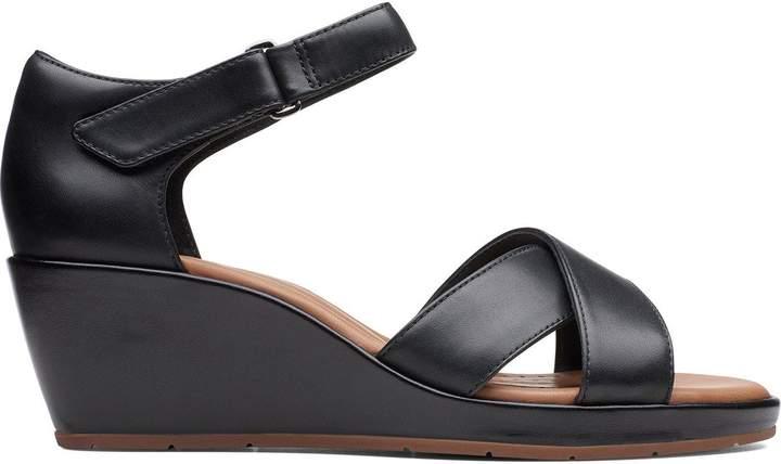 Cross Plaza Black Sandal Un Wedge Lj4AR35