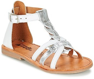Citrouille et Compagnie GITANOLO girls's Sandals in White