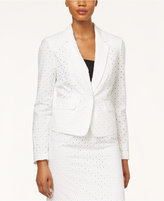 Nine West Eyelet One-Button Jacket