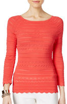 I.N.C International Concepts Petite Mixed Stitch Sweater