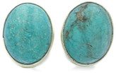 Exex Design Jewelry Sterling Silver Egypt Turquoise Stud Earrings