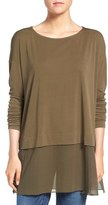 Eileen Fisher Boxy Stretch Silk Jersey Tunic (Regular & Petite)