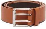 Bottega Veneta Smooth Leather Belt - Mens - Dark Brown