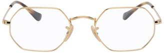 Ray-Ban Gold Hexagonal Icon Glasses