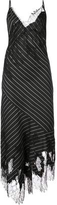 Jason Wu Collection striped asymmetric slip dress
