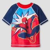 Spiderman Toddler Boys' Rash Guard - Red