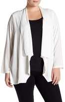 Bobeau Long Sleeve Cardigan (Plus Size)