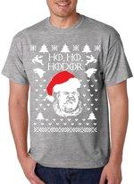 Allntrends Men's T Shirt Ho Ho Hodor Ugly Christmas Sweater Hodor Holiday (3XL, )
