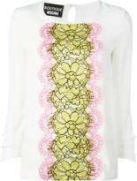 Moschino lace panel blouse - women - Silk/Rayon - 40