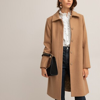 La Redoute Collections Wool Mix Straight Coat