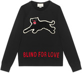 Gucci Cotton sweatshirt with panther