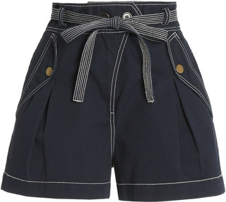 Ulla Johnson Oscar High-Rise Cotton Shorts