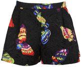 Moschino Butterfly Print Brocade Shorts