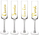 Cathy's Concepts Cathy s Concepts 4-Piece Cheers Champagne Flute Set