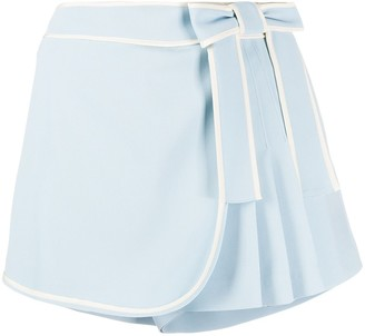 RED Valentino Bow Detail Pleated Skort