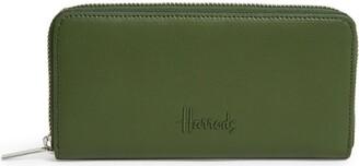 Harrods Leather Kensington Zip-Around Wallet