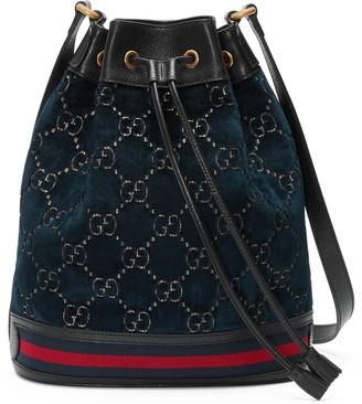 Gucci GG velvet bucket bag