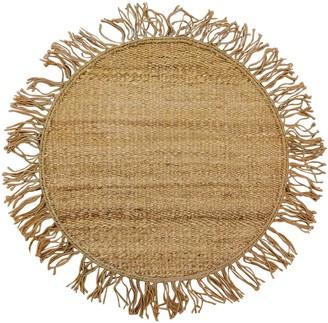 Studio Maleki Cocco Round Handmade Jute Rug W/ Fringes