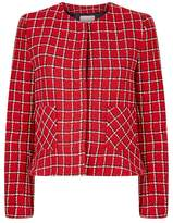 Sandro Cropped Check Jacket