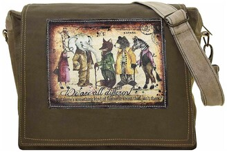 Vintage Addiction We Are All Different Tent Crossbody Bag