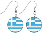 Body Candy Greece Flag Earrings