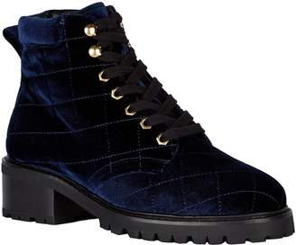 Sandro Quilted Velvet Ranger Boots