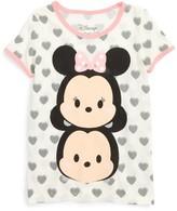 Mighty Fine Toddler Girl's Disney Tsum Tsum Mickey & Minnie Tee