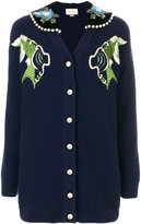 Gucci fishes embroidery cardigan