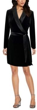 Adrianna Papell Velvet Tuxedo Dress